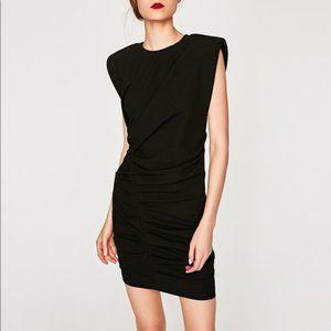 Maje Black Stretch Jersey Mini Dress 36 4 NWT